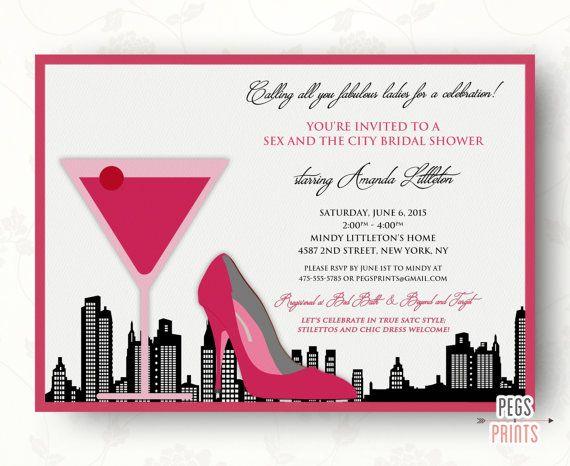 Bridal Shower Invitations New York Theme