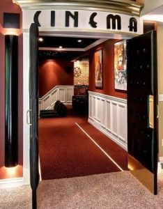 More ideas below hometheater basementideas diy home theater decorations basement rooms red seating small th  also rh pinterest