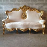 Rococo Furniture Settee Chair Antique Italian Throne 3 ...