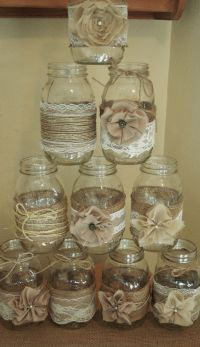 Set of 10 Mason Jar Sleeves, Burlap Wedding Decorations ...