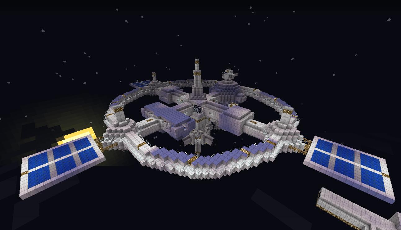 Minecraft spacestation, voxel low
