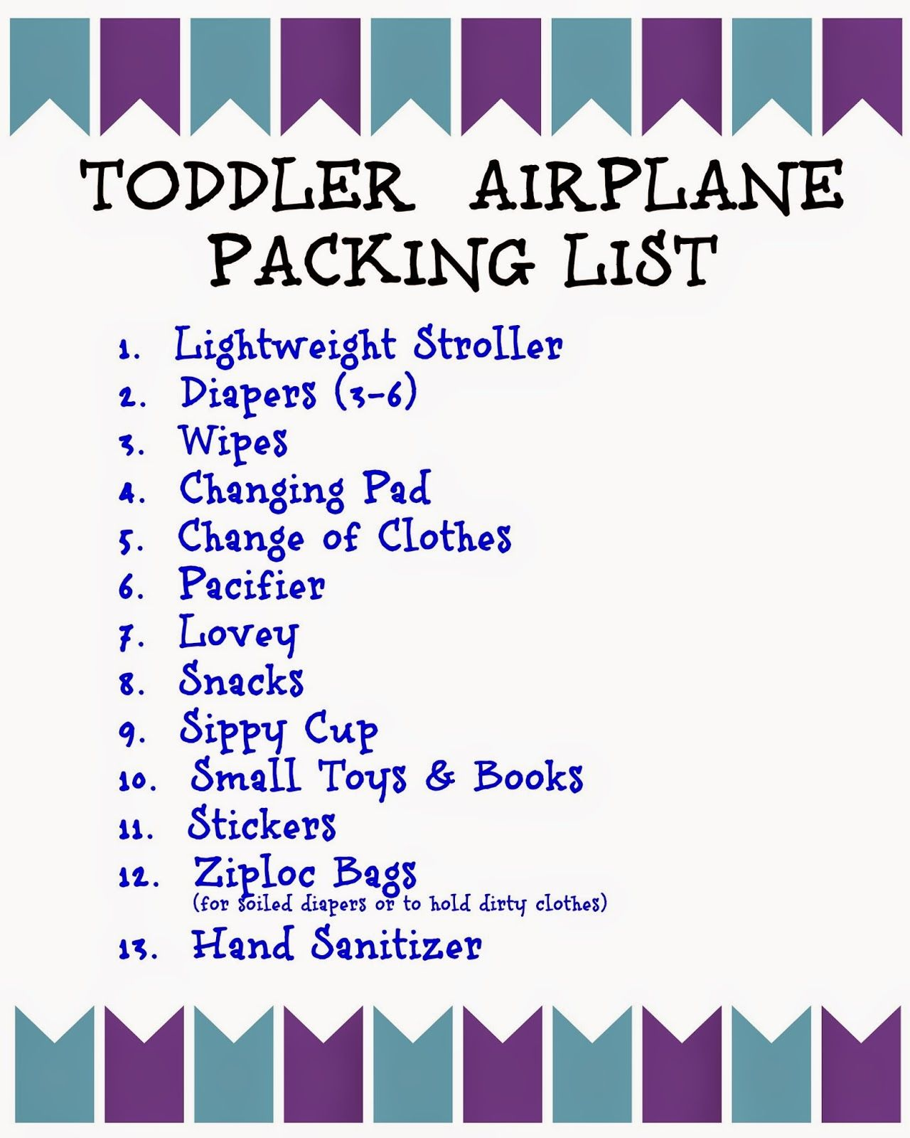 Flying With Children Tips And Printable Packing Lists For