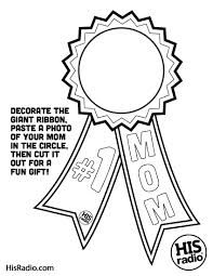 [free printable] #1 mom blue ribbon coloring page for kids