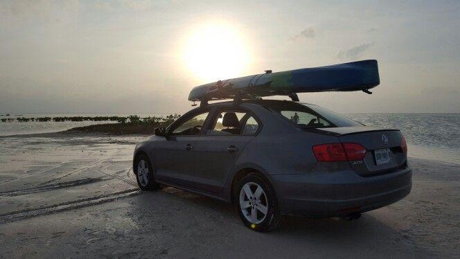 VW jetta mk6 roof rack kayak and bike holder
