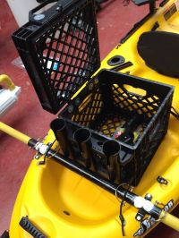 Carry Crate With Rod Holders For Kayak | Kayak | Pinterest ...