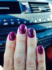plum gel polish. winter. fall