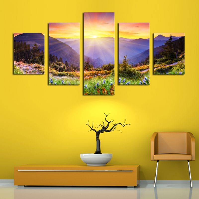 Unframed panels modern colorful hill hd picture canvas print painting wall art for decor also rh pinterest
