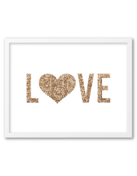 Free Printable Gold Sequin Heart Wall Art | Card stock ...