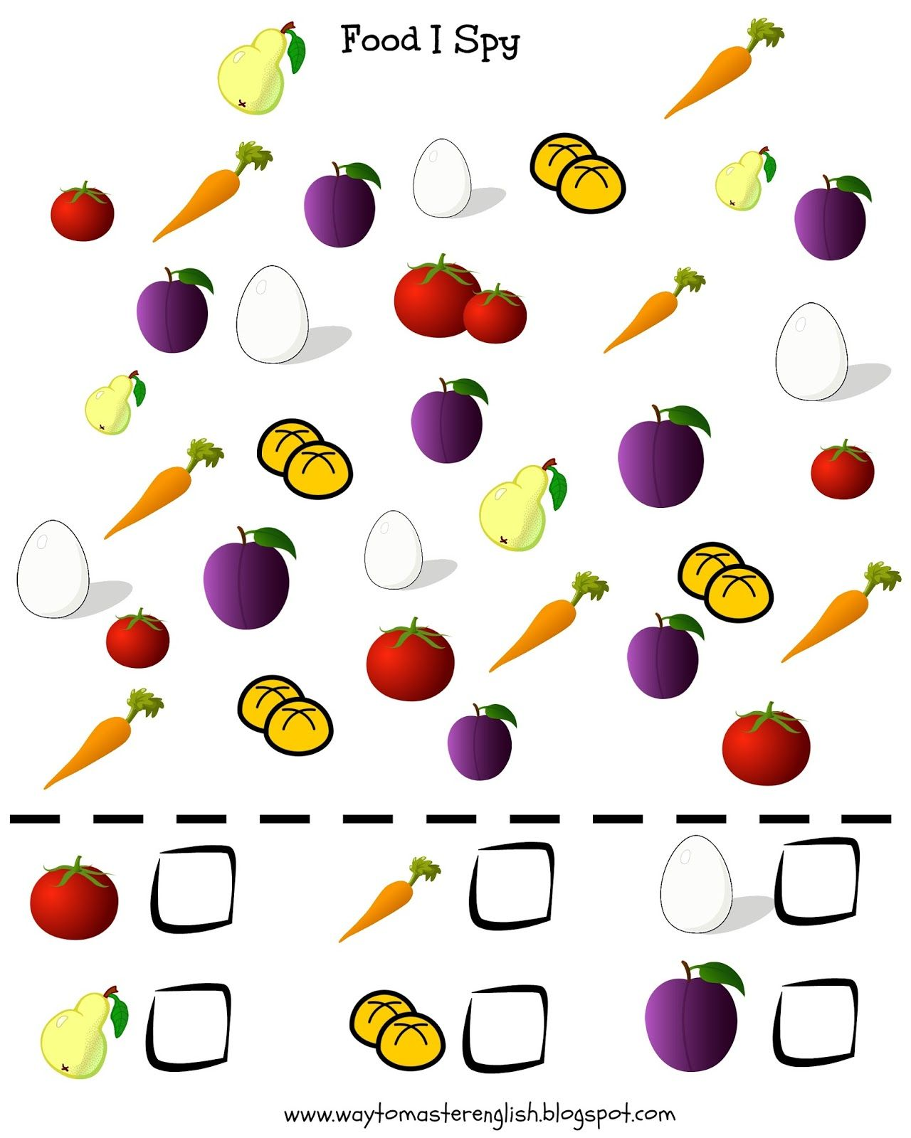 Funglish I Spy Vocabulary Kids Young Learners Food Fruit Vegetables