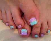easy cute toe nail art design