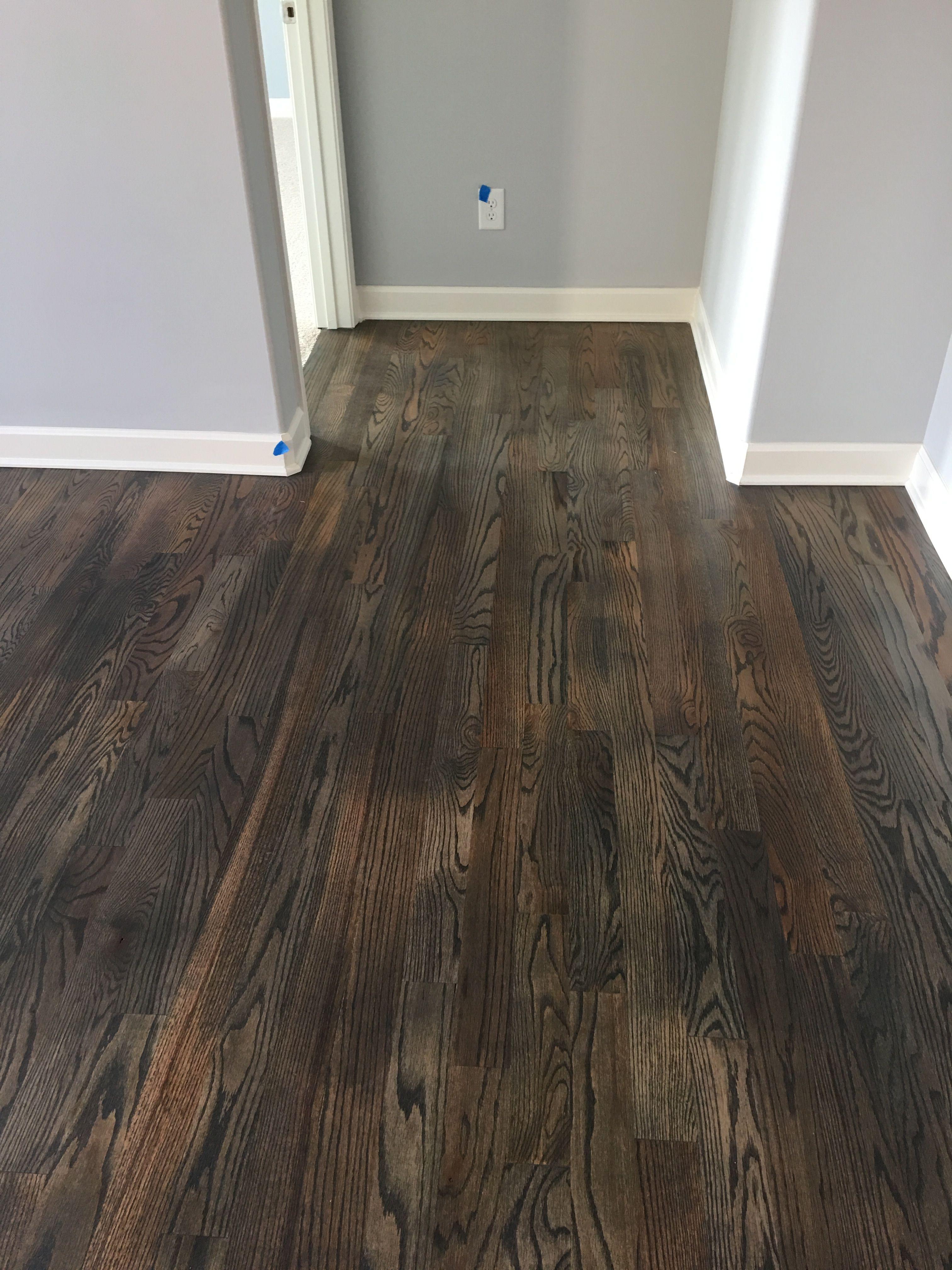 Bona Stain in Driftwood on white oak hardwood floors