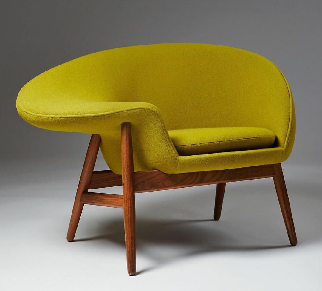 fried egg chair leather nailhead dining chairs hans olsen s designed to be sat in both normally and