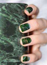 nails green marble