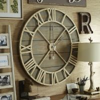 Oversize Gray Rustic Wall Clock | Wrought iron, Clocks and ...