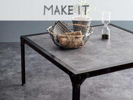 diy fabriquer une table basse au style industriel leroy merlin