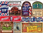 barber signs - instant