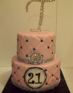 Happy st birthday tiered cake for  lady who just loves the bling also rh no pinterest