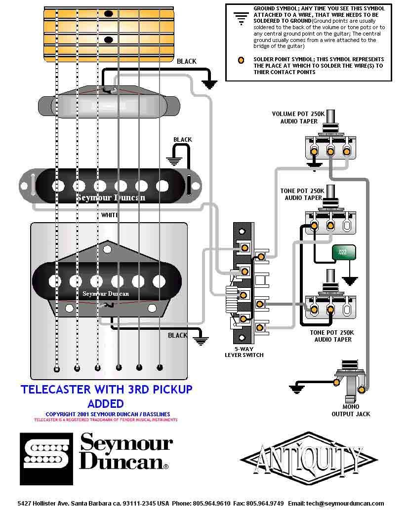 medium resolution of tele wiring diagram with a 3rd pickup added telecaster telecaster 3 pickup wiring diagram fender telecaster