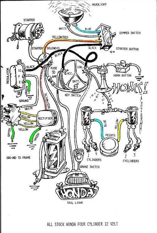honda cb550 wiring loom