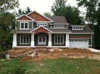 Craftsman style home... Turn the garage to the side ...