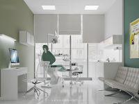 dental clinic, digital art , interior design, minimalist ...