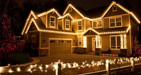 Outdoor Christmas Lights Ideas For The Roof Exterior Christmas