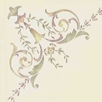 19th Century Corner Ceiling Stencil | Painted ceilings ...