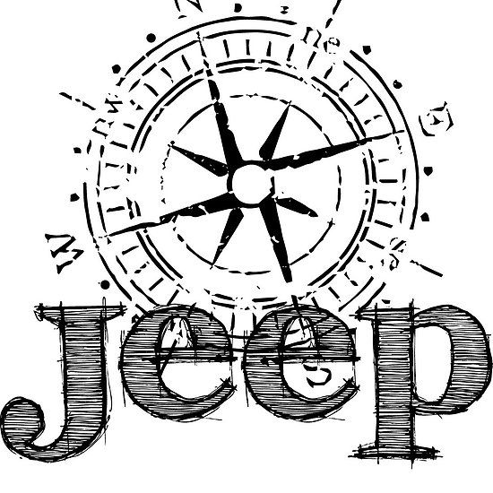 Jeep compass sticker available @ redbubble.com