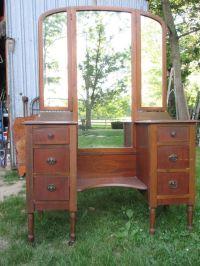 Antique Vanity With Tri Fold Mirror   www.pixshark.com ...