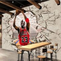 NBA Jordan 3D Sports Wallpaper Basketball Wall Mural ...