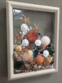 Sea Glass Seashell And Sand Dollar Art Suncather Beach ...