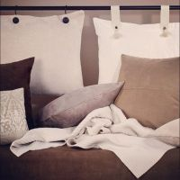 Pillow Headboard- another way you can use pillows as ...