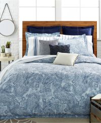 Tommy Hilfiger Canyon Paisley Comforter and Duvet Cover ...