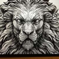 Another lion sketch for a future tattoo piece | Career ...