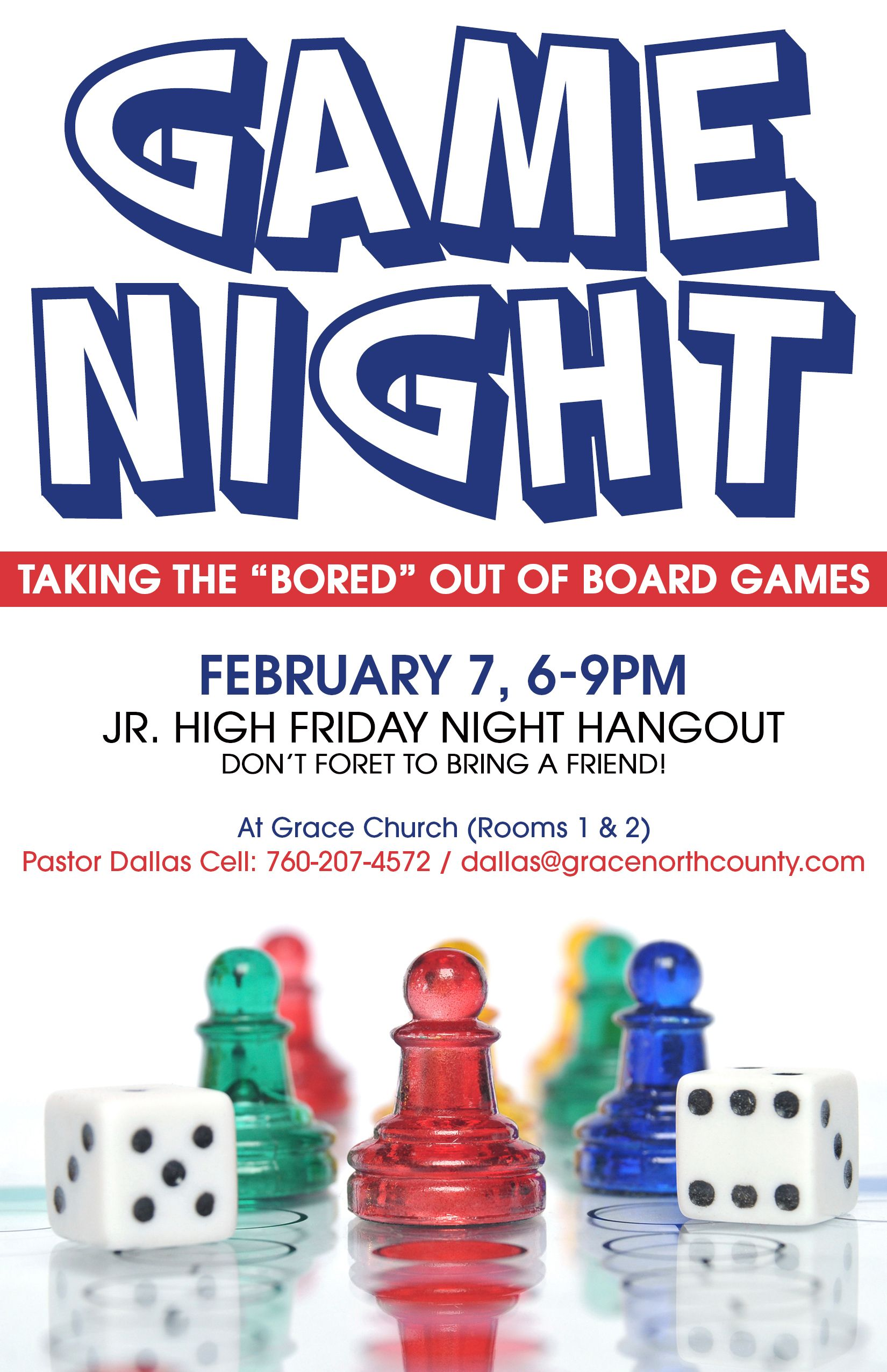 game night flyers