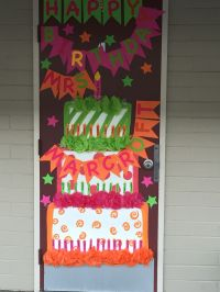 Happy birthday teacher door decor!