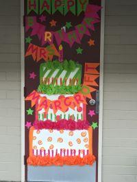 Happy birthday teacher door decor!