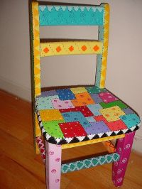Time out chair | Paint furniture, Funky furniture and Craft