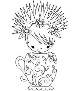 Stamping Bella Unmounted Rubber Stamp-Miranda The Teacup