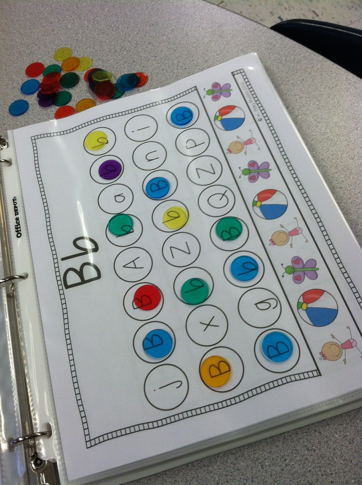 Letter Identification A Great Idea Using Clear Colored