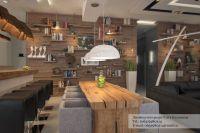 Small Modern Rustic Studio Apartment Interior Lighting