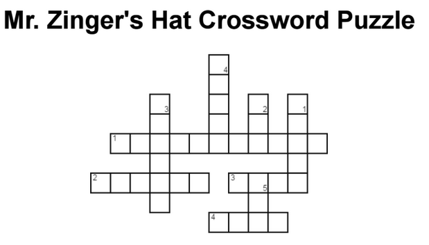 Mr. Zinger's Hat Crossword Puzzle 2. Created at http