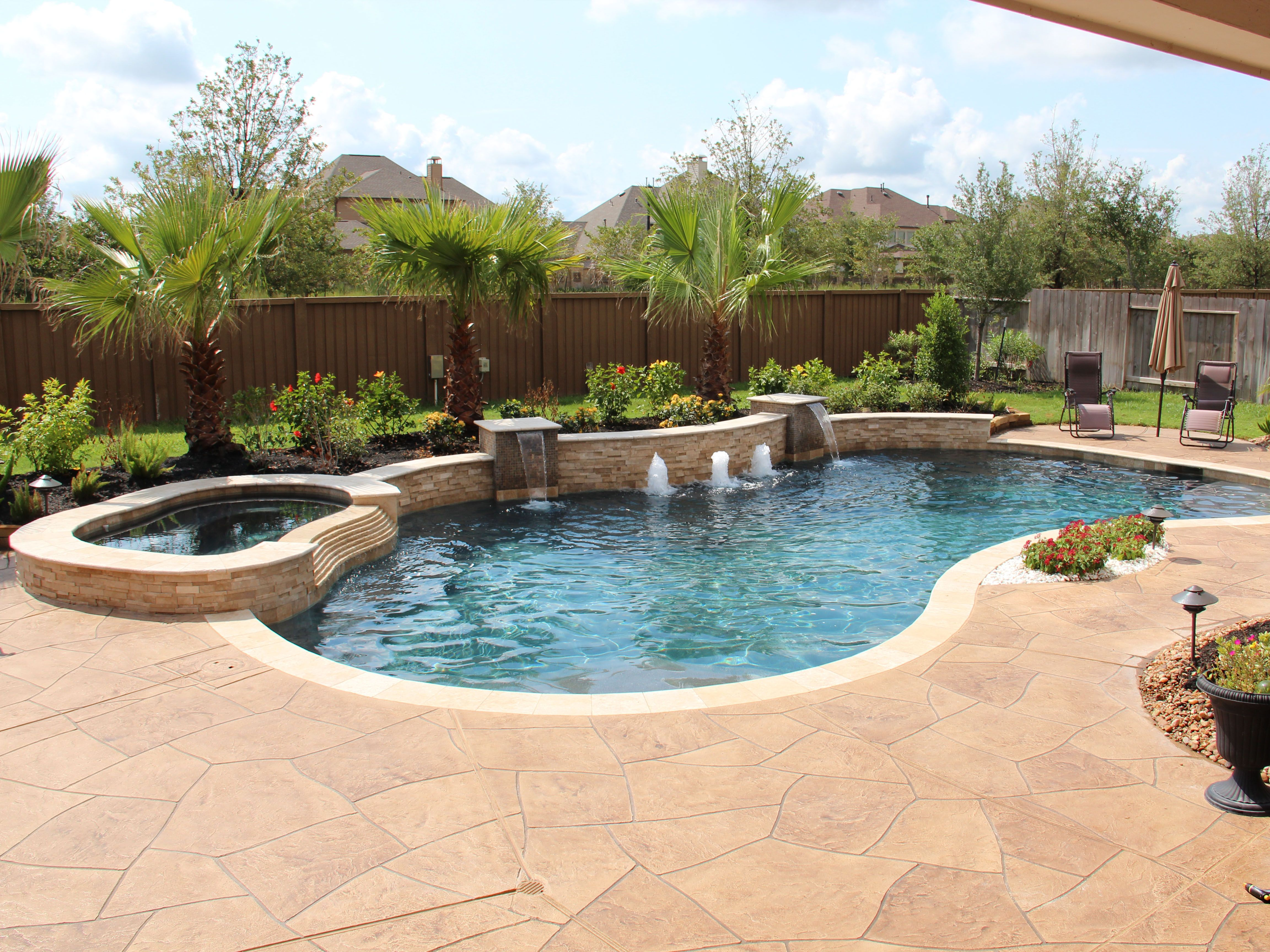 This is the same pool in image 114 Here is a full view of the pool and patio surface From this