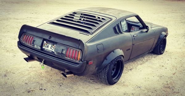 My 1977 Toyota Celica in the Wasteland jk its at the