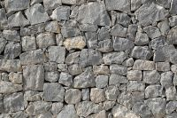 stone gray concrete wall