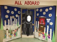 Winter Door Decorating At School/ Polar Express | Bulletin ...