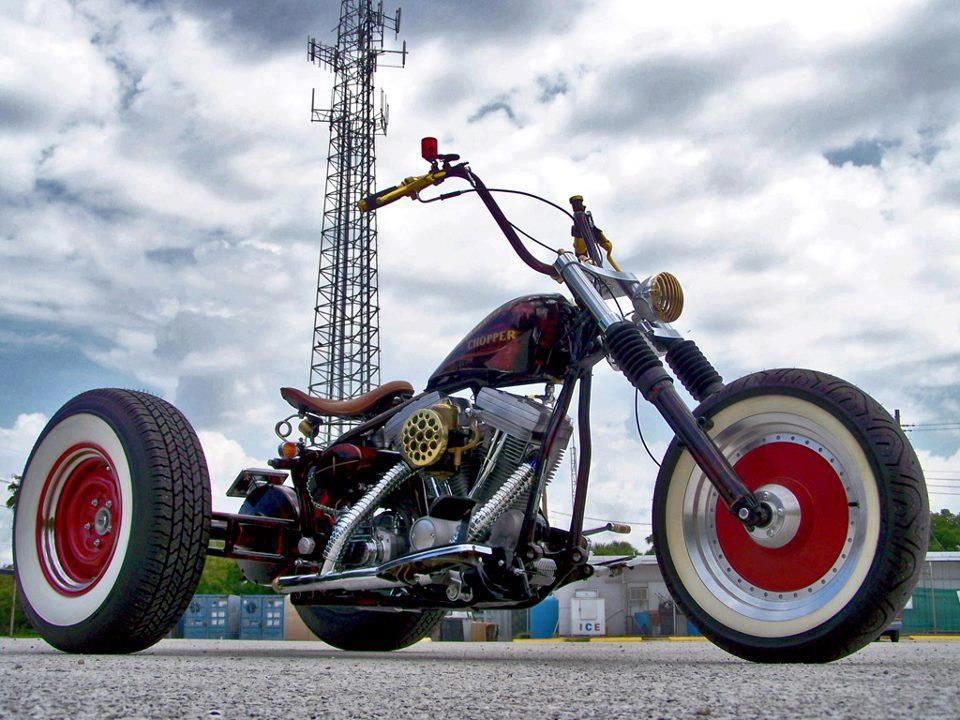 RatRod Bike  Bad Motor Scooters  Pinterest  Rats Custom motorcycle builders and Harley bobber