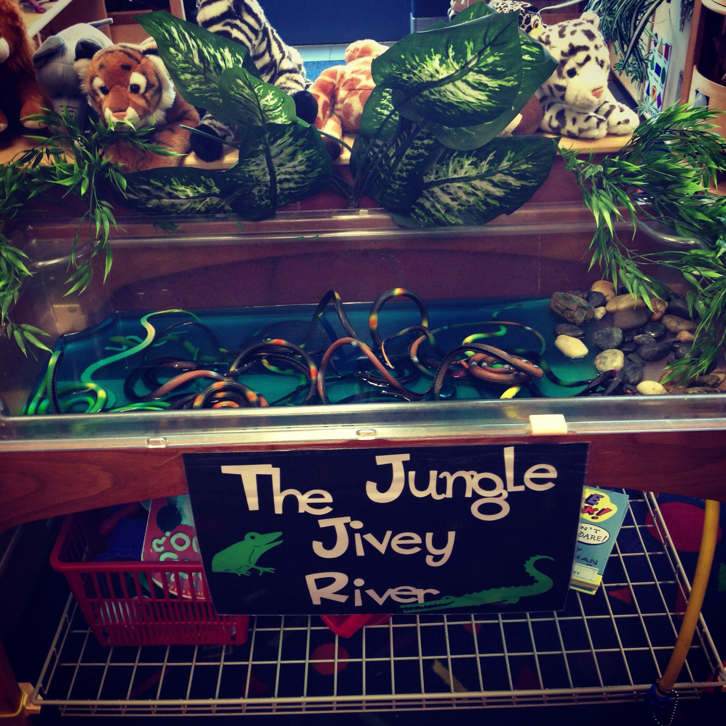 Sensory Table For Jungle Theme
