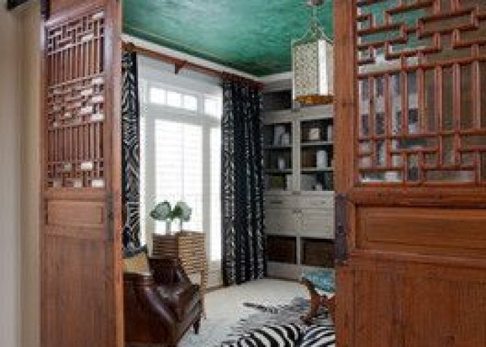 Cool asian barn doors atlanta chic home office jennifer reynolds interiors also
