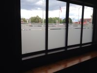 Half frosted glass for our store front window to help with ...